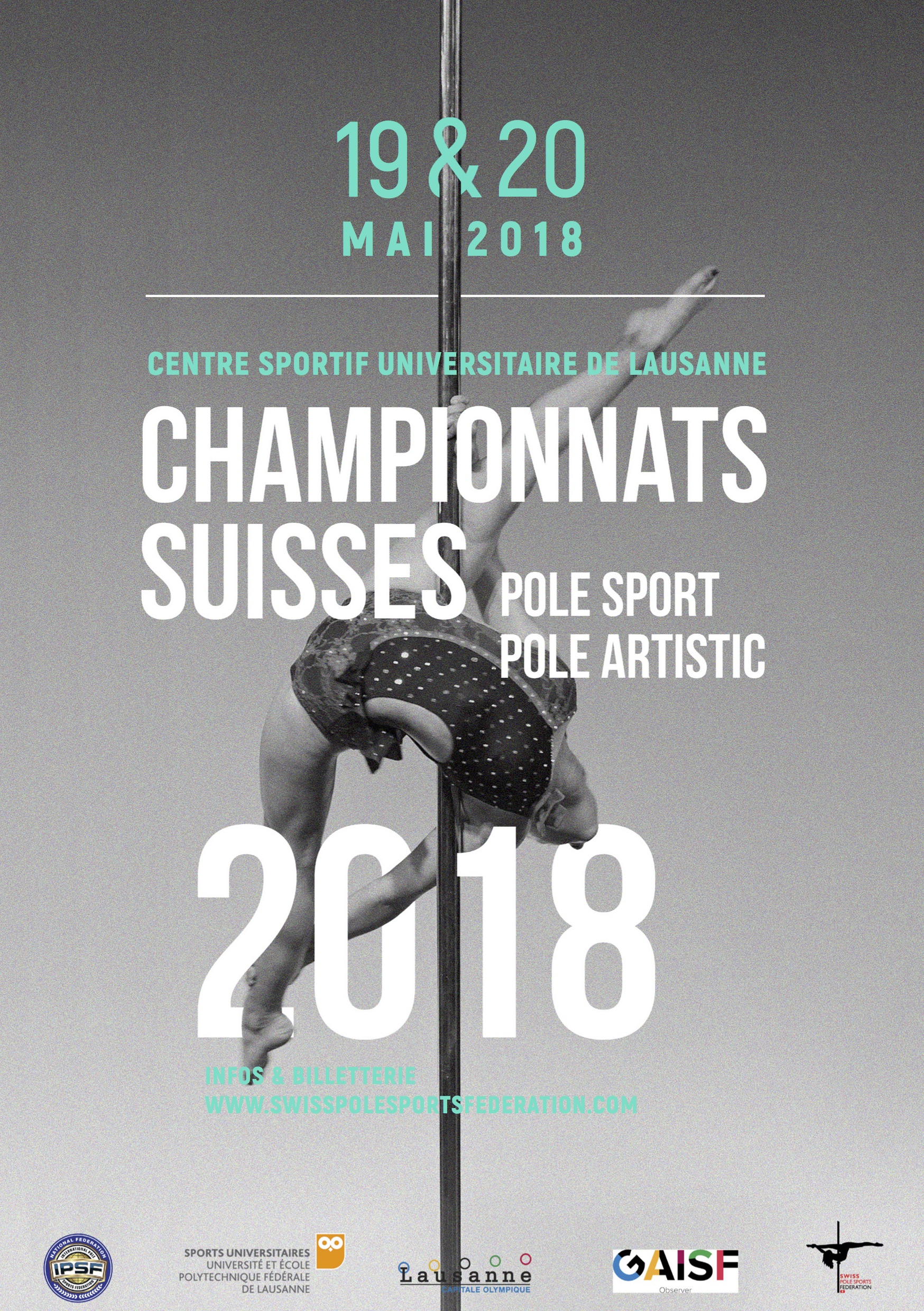 Swiss Pole Sport, Pole Artistic, Parapole & Open IPSF Championships 2018