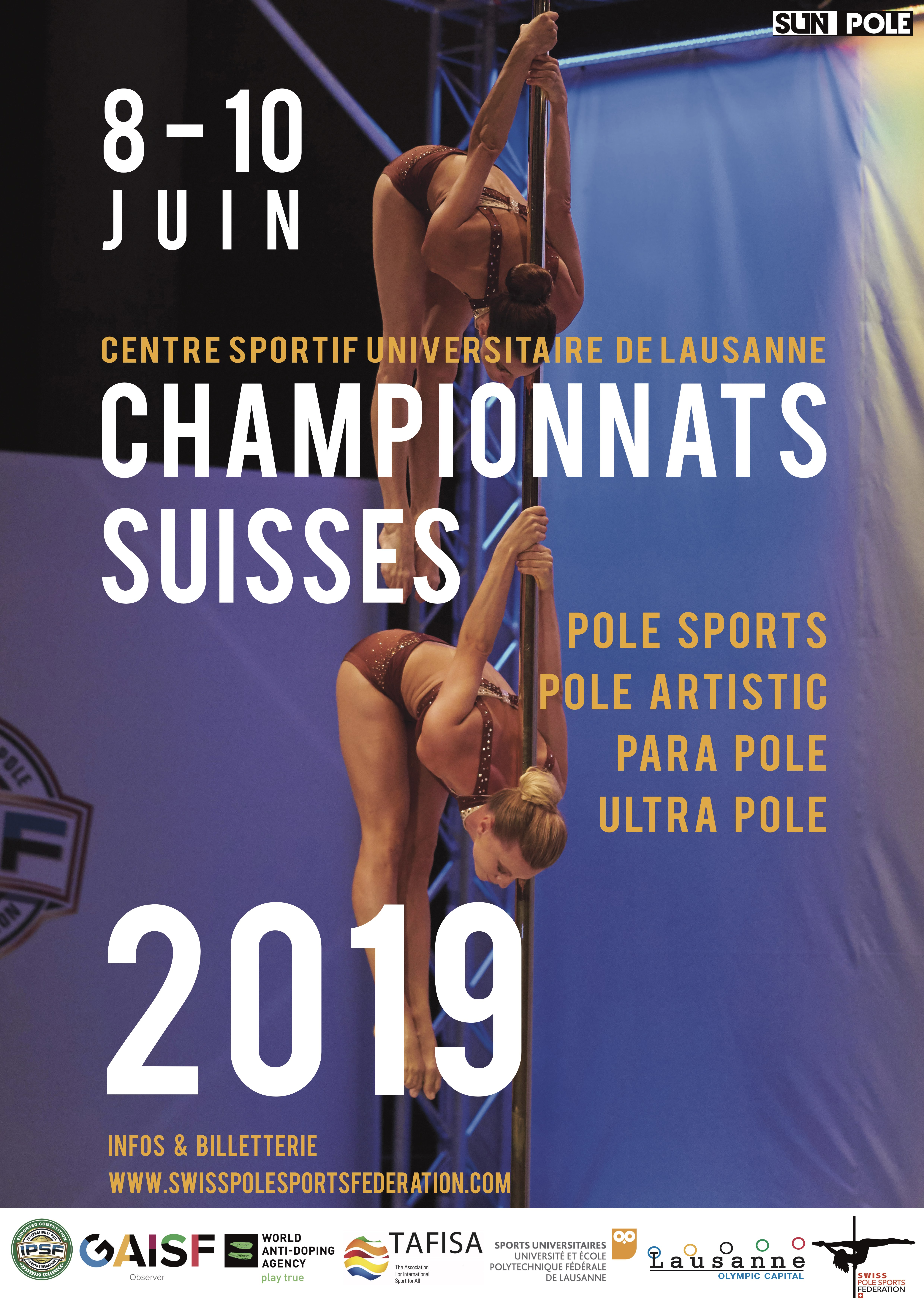 BILLETTERIE - Championnats Suisses 2019